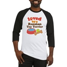 Russian Toy Terrier Dog Gift Baseball Jersey