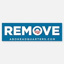 Remove Obama Sticker (Bumper)