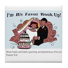His Favor Tile Coaster