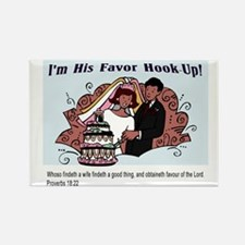 His Favor Rectangle Magnet (100 pack)