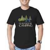 Camping Fitted T-shirts (Dark)