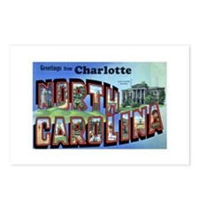 Charlotte North Carolina Greetings Postcards (Pack