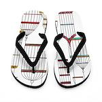 Retro Bird Cages Flip Flops