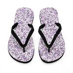 Purple Swirls Flip Flops