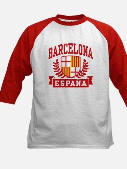 Barcelona Espana Kids Baseball Jersey