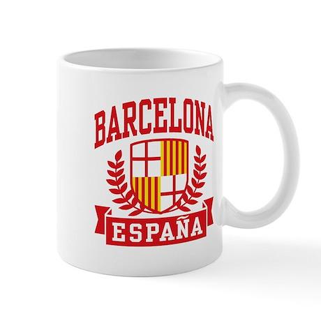 Barcelona espana mug by spiffetees for Mug barcelona