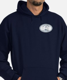 Manchester-By-The-Sea - Oval Design. Hoodie (dark)