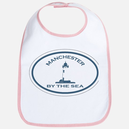 Manchester-By-The-Sea - Oval Design. Bib
