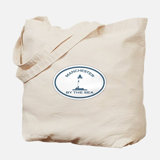 Manchester-By-The-Sea - Oval Design. Tote Bag