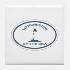 Manchester-By-The-Sea - Oval Design. Tile Coaster