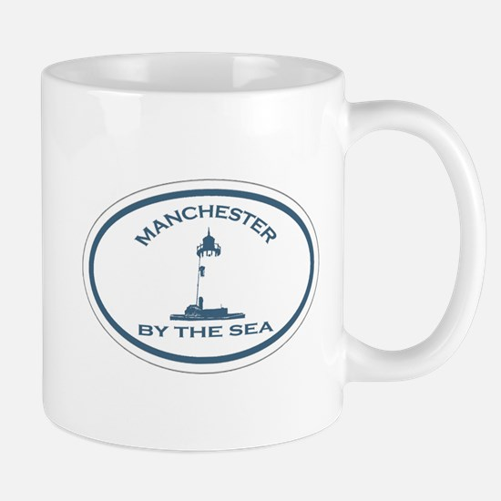 Manchester-By-The-Sea - Oval Design. Mug