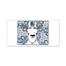 strangeface Aluminum License Plate