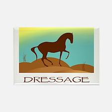 desert dressage w/ text Rectangle Magnet