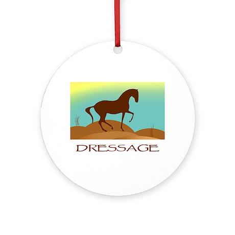 desert dressage w/ text Ornament (Round)