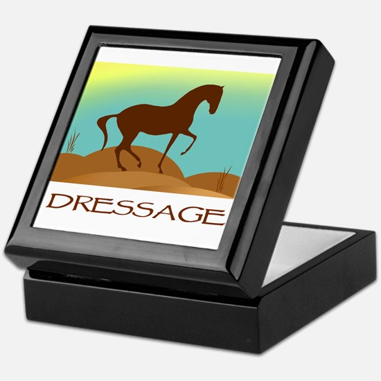 desert dressage w/ text Keepsake Box