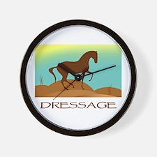 desert dressage w/ text Wall Clock