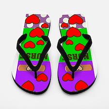 ff NURSE GREEN PURPLE.PNG Flip Flops