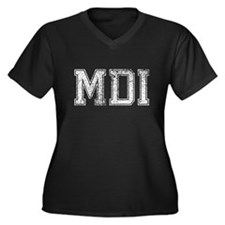 MDI, Vintage, Women's Plus Size V-Neck Dark T-Shir