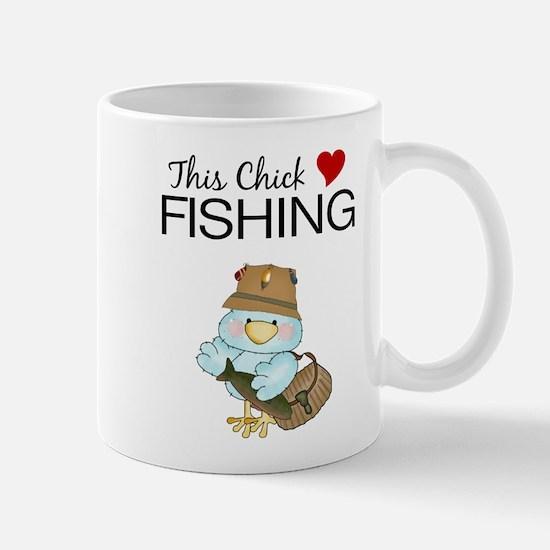 This Chick Loves Fishing Mug
