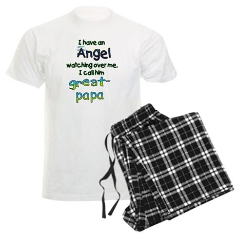 I HAVE AN ANGELGREAT PAPA.png Men's Light Pajamas