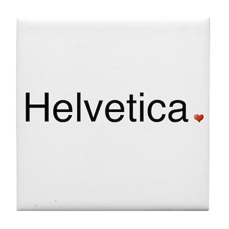 Helvetica Tile Coaster