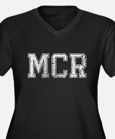 MCR, Vintage, Women's Plus Size V-Neck Dark T-Shir