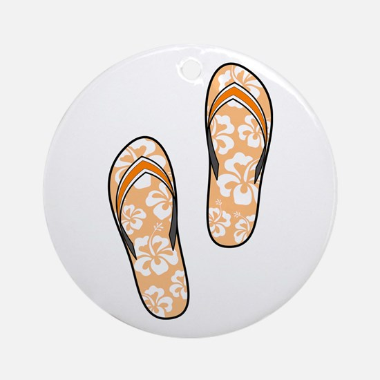 Orange Flops Ornament (Round)