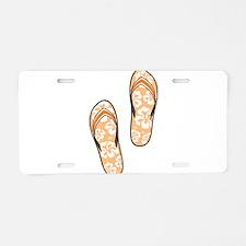 Orange Flops Aluminum License Plate