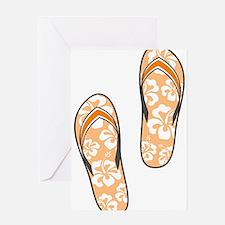 Orange Flops Greeting Card