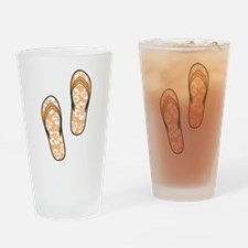 Orange Flops Drinking Glass