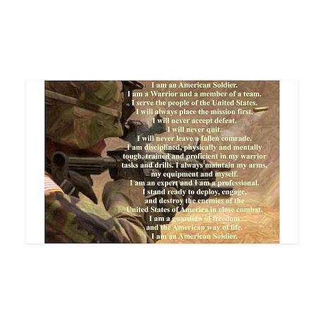 Soldier's Creed Warrior 38.5 x 24.5 Wall Peel