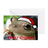 Frog christmas Greeting Cards (10 Pack)