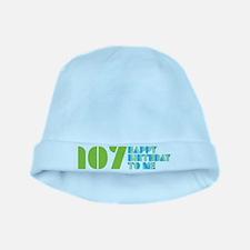 Happy Birthday 107 baby hat