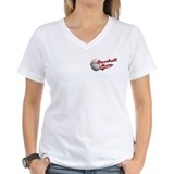 Baseball mom Womens V-Neck T-shirts