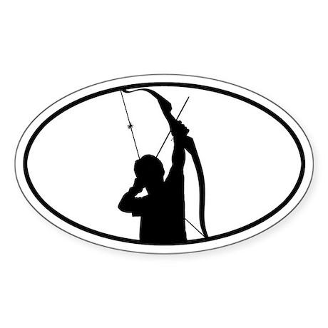 Archery Oval Sticker