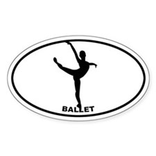 Ballet - Girl Oval Decal