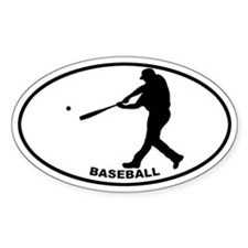 Baseball - Guy Oval Decal