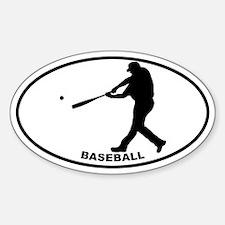 Baseball - Guy Oval Decal