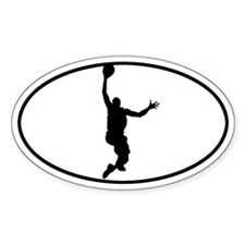 Basketball - Guy Oval Decal