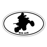 Big Air - Quads Oval Sticker
