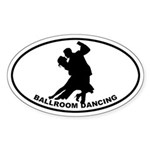 Ballroom Dancing Oval Sticker