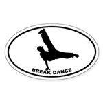 Break Dancer Oval Sticker