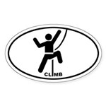 Climber Pictograph Oval Sticker