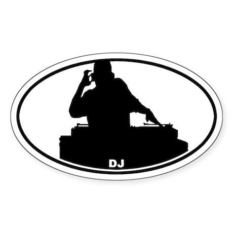 DJ - Night Club Oval Sticker