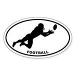 Football Player Oval Sticker