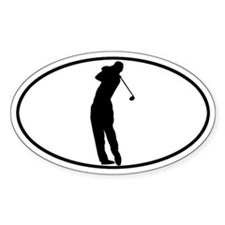 Golfer - Man Oval Decal
