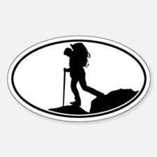 Hiker - Silo Oval Bumper Stickers