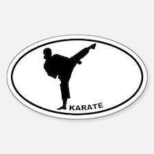Karate - Woman Oval Decal
