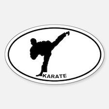 Karate - Man Oval Decal