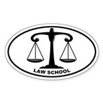 Law School - Scales Oval Sticker